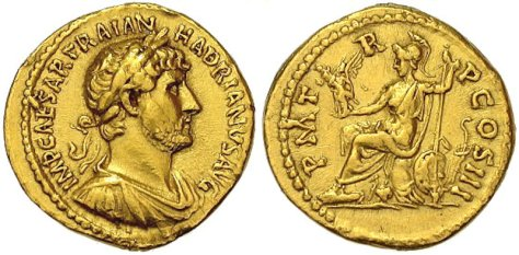 ROMAN GOLD COIN HADRIAN